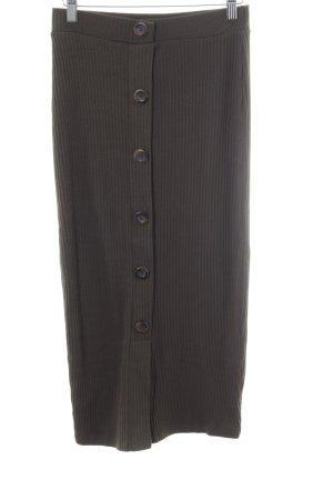 Zara Trafaluc High Waist Skirt khaki street-fashion look