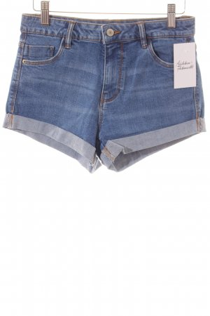 Zara Trafaluc High-Waist-Shorts blau Washed-Optik