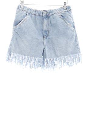 Zara Trafaluc Short taille haute bleu azur style décontracté