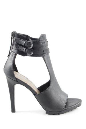 Zara Trafaluc Chaussure à talons carrés noir style extravagant