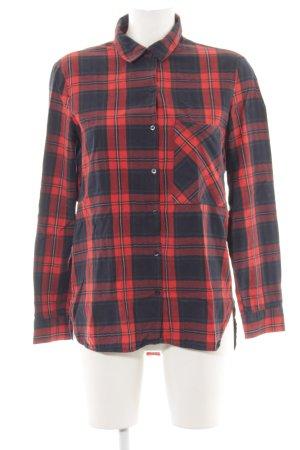 Zara Trafaluc Holzfällerhemd rot-schwarz Karomuster Casual-Look