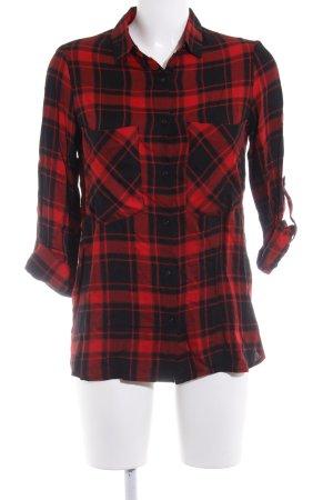 Zara Trafaluc Holzfällerhemd rot-schwarz Karomuster sportlicher Stil