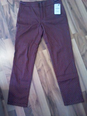 Zara Woman Peg Top Trousers black-purple cotton