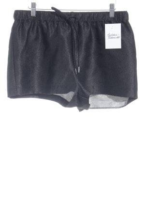 Zara Trafaluc Hot Pants schwarz Schimmer-Optik
