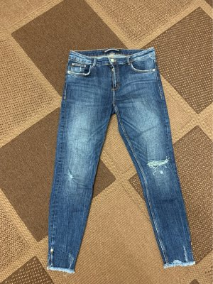 Zara Trafaluc Tube Jeans dark blue