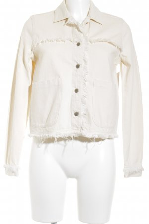 Zara Trafaluc Jeansjacke beige Gypsy-Look