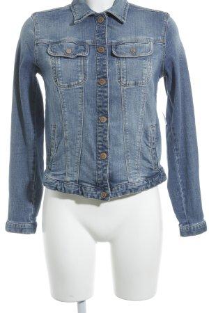 Zara Trafaluc Jeansjacke blau-blassblau Jeans-Optik