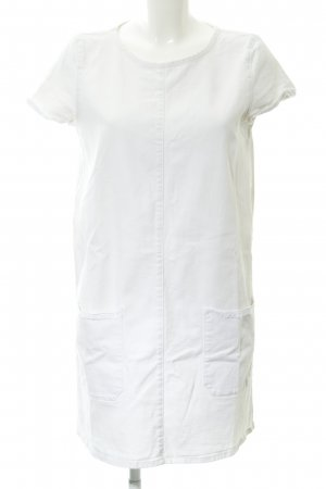 Zara Trafaluc Jeanskleid wollweiß schlichter Stil