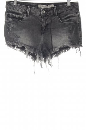 c685d86a92cb6 Zara Trafaluc Denim Shorts black casual look