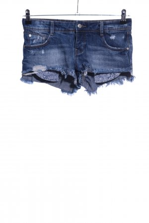 Zara Trafaluc Denim Shorts blue casual look