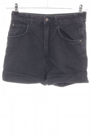 Zara Trafaluc Denim Shorts black casual look