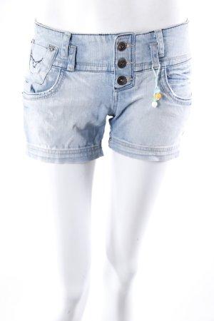 Zara Trafaluc Jeansshorts Knopfverschluss
