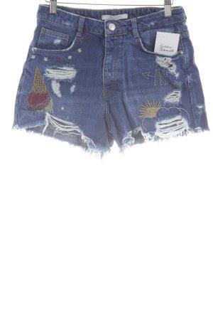 Zara Trafaluc Jeansshorts mehrfarbig Street-Fashion-Look