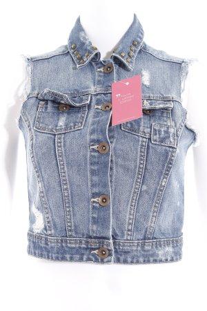 Zara Trafaluc Gilet en jean bleu style décontracté