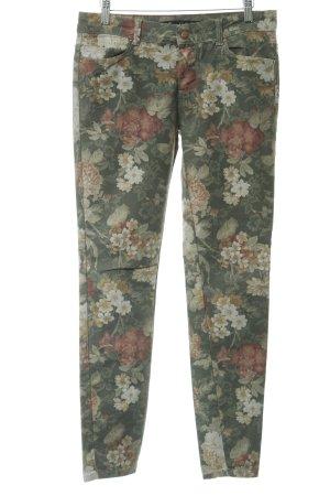 Zara Trafaluc Jeggings flower pattern casual look
