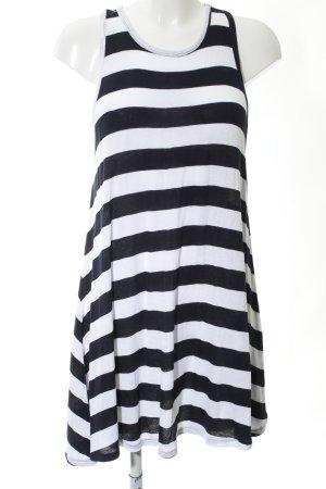 Zara Trafaluc Jerseykleid weiß-schwarz Streifenmuster Casual-Look