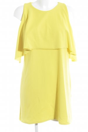 Zara Trafaluc Vestido de tela de jersey amarillo look casual