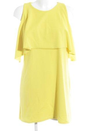 Zara Trafaluc Jerseykleid gelb Casual-Look