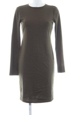 Zara Trafaluc Jerseykleid khaki Casual-Look