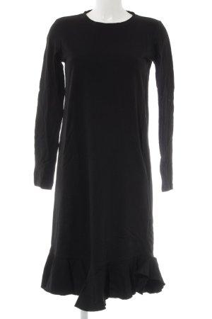 Zara Trafaluc Abito jersey nero stile casual