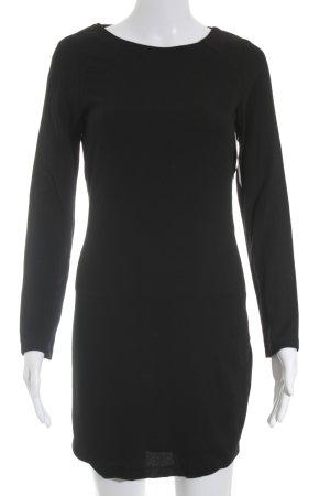 Zara Trafaluc Jerseykleid schwarz schlichter Stil