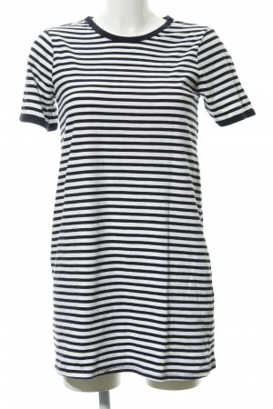 Zara Trafaluc Jerseykleid weiß-dunkelblau Streifenmuster Casual-Look