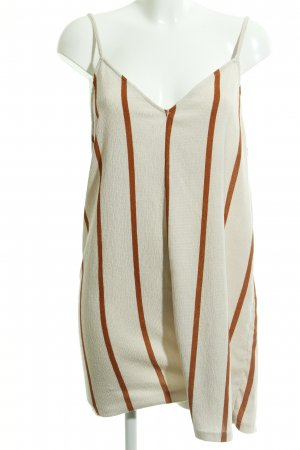 Zara Trafaluc Tuta crema-arancione scuro motivo a righe stile spiaggia