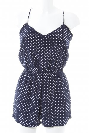 Zara Trafaluc Combinaison bleu foncé-blanc motif de tache style décontracté
