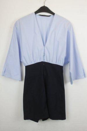 Zara Trafaluc Jumpsuit Gr. XS hellblau/dunkelblau (18/4/437)