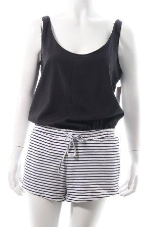 Zara Trafaluc Jumpsuit schwarz-weiß Ringelmuster Casual-Look