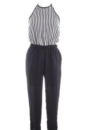 Zara Trafaluc Jumpsuit schwarz-weiß Streifenmuster Casual-Look