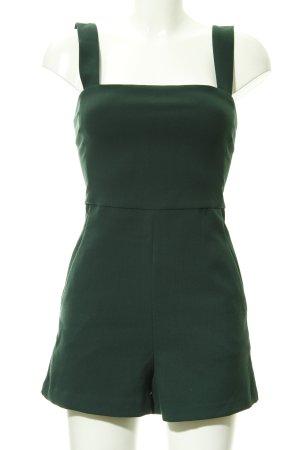 Zara Trafaluc Jumpsuit waldgrün klassischer Stil