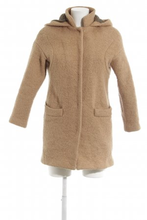 Zara Trafaluc Hooded Coat camel casual look