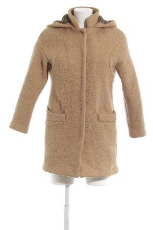 Zara Trafaluc Manteau à capuche chameau style décontracté