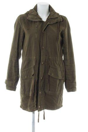 Zara Trafaluc Manteau à capuche vert olive style décontracté