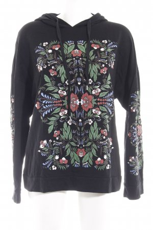 Zara Trafaluc Kapuzensweatshirt florales Muster Casual-Look