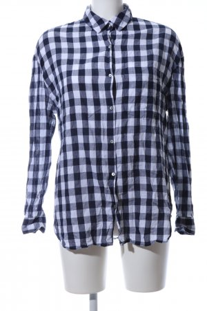 Zara Trafaluc Checked Blouse white-black check pattern casual look