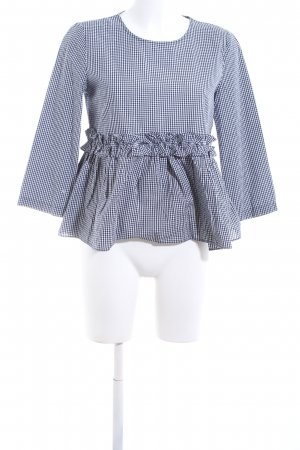 Zara Trafaluc Checked Blouse blue-white check pattern casual look