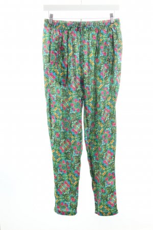 Zara Trafaluc Peg Top Trousers flower pattern hippie style
