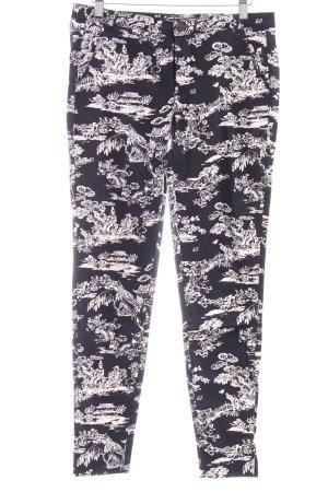 Zara Trafaluc Peg Top Trousers black-white abstract pattern street-fashion look