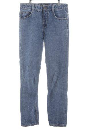 Zara Trafaluc Wortel jeans neon blauw casual uitstraling