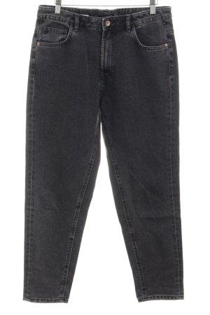 Zara Trafaluc Wortel jeans zwart-grijs gewassen uitstraling