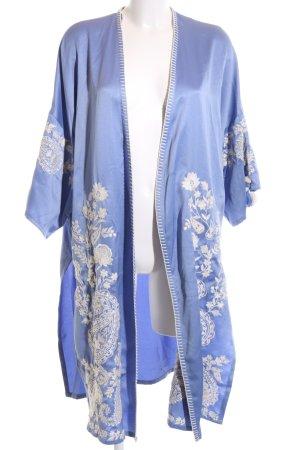 Zara Trafaluc Kimono blu motivo floreale stile casual