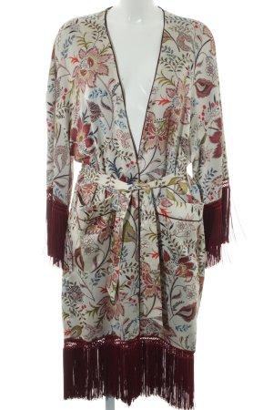 Zara Trafaluc Kimono estampado floral estilo extravagante