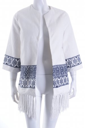 Zara Trafaluc Kimono Sweater white-dark blue street-fashion look