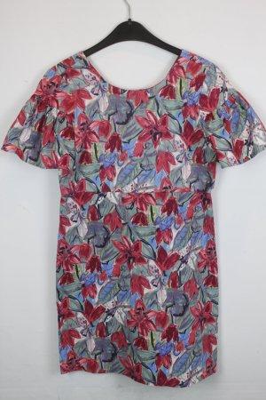 Zara Trafaluc Kleid Gr. XS Flower Print (18/3/122)