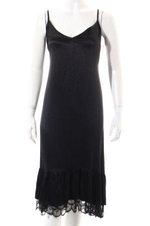 Zara Trafaluc Kleid schwarz Glanz-Optik