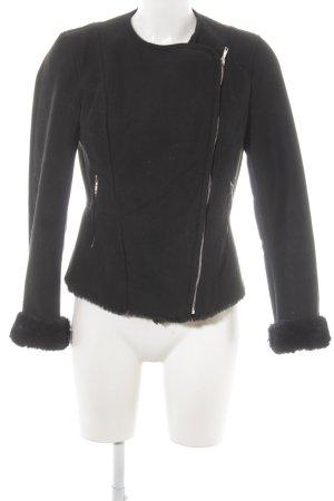 Zara Trafaluc Chaqueta de cuero de imitación negro look casual