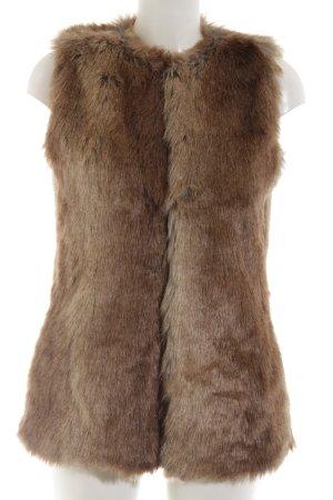 Zara Trafaluc Fake Fur Vest brown casual look