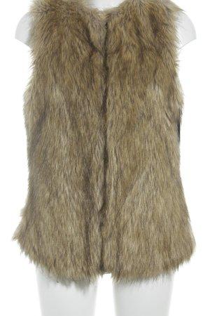 Zara Trafaluc Vest van imitatiebont room-beige minimalistische stijl